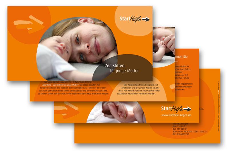 starthilfe siegen - Zeit stiften für junge Mütter Flyer